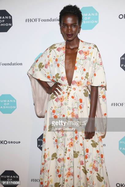 Aamito Lagum attends Humans of Fashion Foundation joins the conversation to end sexual harassment and assault in the industry at Cipriani 25 Broadway...