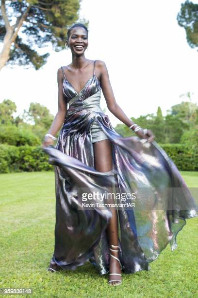 Aamito Lagum attends the cocktail at the amfAR Gala Cannes 2018 at Hotel du CapEdenRoc on May 17 2018 in Cap d'Antibes France