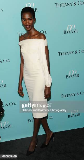 Aamito Lagum attends the Harper's Bazaar 150th Anniversary Party at The Rainbow Room on April 19 2017 in New York City