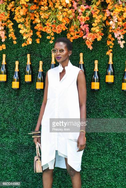 Aamito Lagum attends The Tenth Annual Veuve Clicquot Polo Classic Arrivals at Liberty State Park on June 3 2017 in Jersey City New Jersey