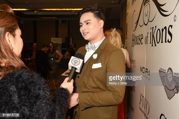 Aandrei David at the House of iKons show during London Fashion Week February 2018 at Millenium Gloucester London Hotel on February 17 2018 in London...