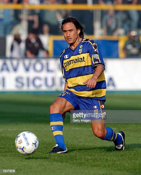 AAntonio Benarrivo of Parma in action during the Serie A match between Parma and Atalanta played at the Ennio Tardini Stadium Parma Italy on October...