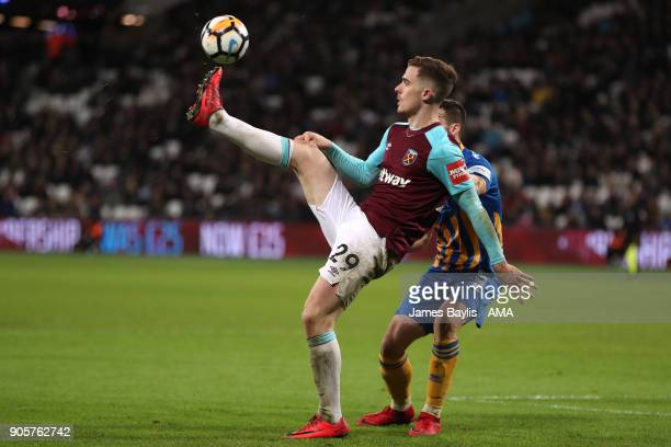 AAntonio Martinez of West Ham United in action during the Emirates FA Cup Third Round Repaly match between West Ham United and Shrewsbury Town at...