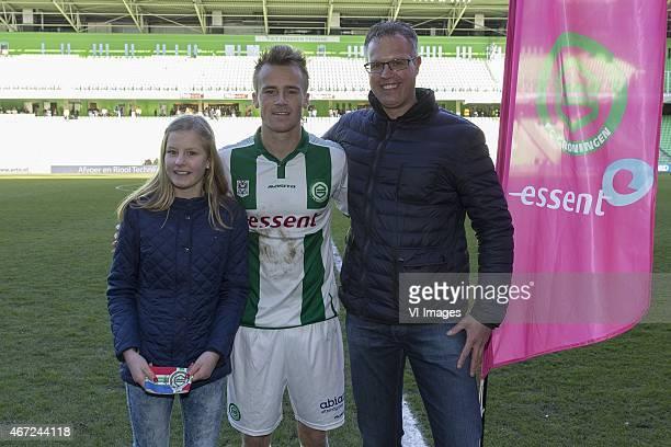 aanvoerder aanvoederdersband band Maikel Kieftenbeld of FC Groningen during the Dutch Eredivisie match between FC Groningen and FC Twente at the...