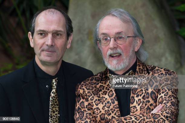 Aardman cofounders David Sproxton and Peter Lord arrive for the world film premiere of 'Early Man' at the BFI Imax cinema in the South Bank district...