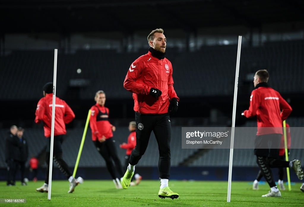 Denmark Training Session and Press Conference : News Photo