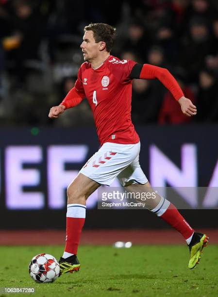 Aarhus Denmark 19 November 2018 Andreas Bjelland of Denmark during the UEFA Nations League B group four match between Denmark and Republic of Ireland...