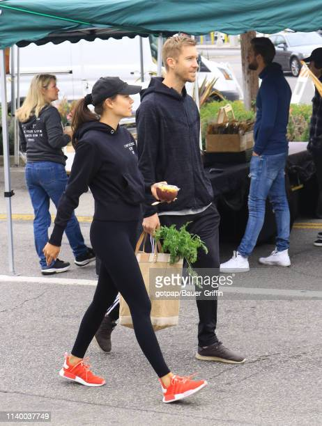 Aarika Wolf and Calvin Harris are seen on April 28 2019 in Los Angeles California