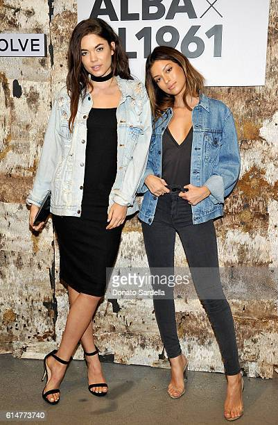 Aarika Wolf and Cassie Amato attend the DL1961 x Jessica Alba Collection Event at the REVOLVE Social Club on October 14 2016 in West Hollywood...