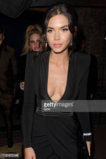 Aarika Wolf seen attending the BRITS 2019 Warner Music after party at the Chiltern Firehouse on February 20 2019 in London England