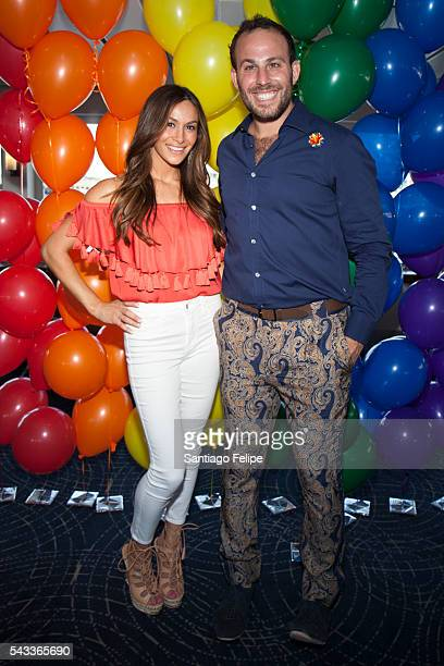Aarin Spiegelman and Micah Jesse attend We Are Orlando Fundraiser at World Yacht The Duchess on June 24 2016 in New York City