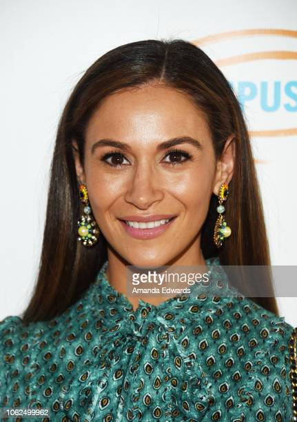 Aarin Spiegelman arrives at the Lupus LA 16th Annual Hollywood Bag Ladies Luncheon at The Beverly Hilton Hotel on November 16 2018 in Beverly Hills...