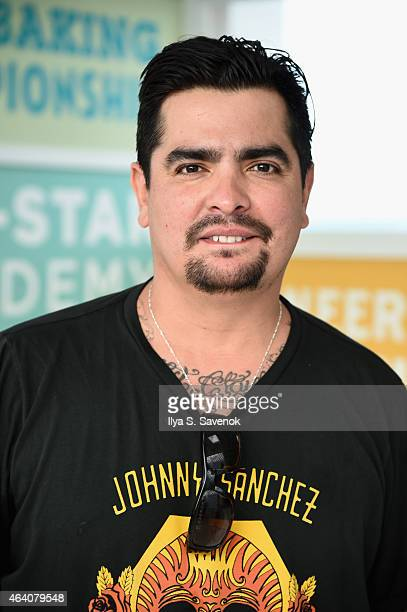 Aarón Sánchez poses at the KitchenAid Culinary Demonstrations during the 2015 Food Network Cooking Channel South Beach Wine Food Festival presented...