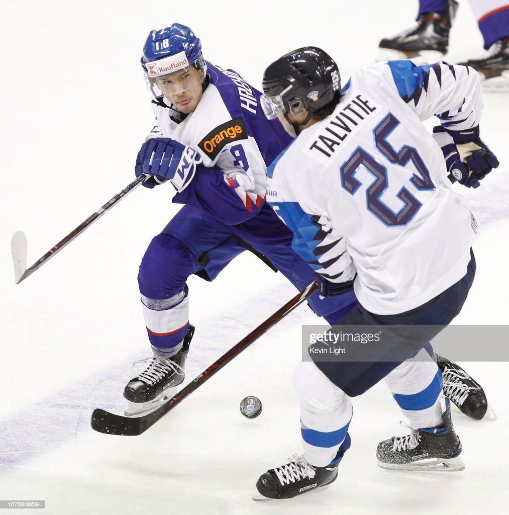 Slovakia v Finland - 2019 IIHF World Junior Championship : News Photo