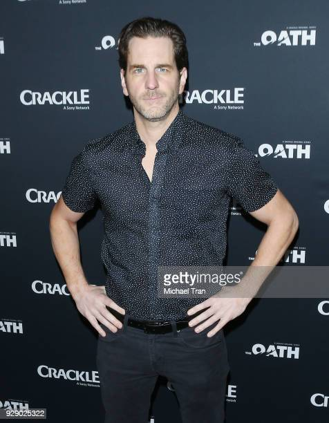 Aaron Abrams arrives to the Los Angeles premiere of Crackle's 'The Oath' held at Sony Pictures Studios on March 7 2018 in Culver City California