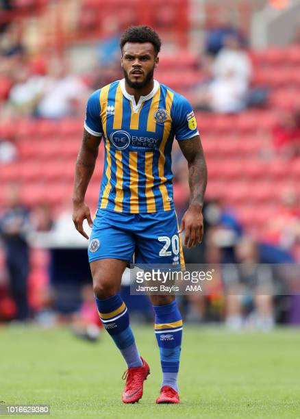 Aaron AmadiHolloway of Shrewsbury Town during the Sky Bet League One match between Charlton Athletic and Shrewsbury Town at The Valley on August 11...