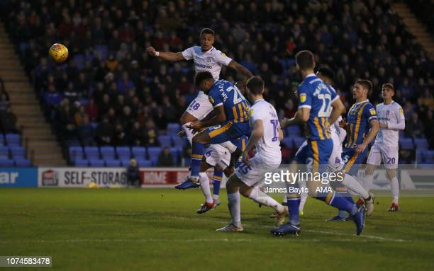 Aaron AmadiHolloway of Shrewsbury Town scores a goal to make it 10 during the Sky Bet League One match between Shrewsbury Town and Coventry City at...