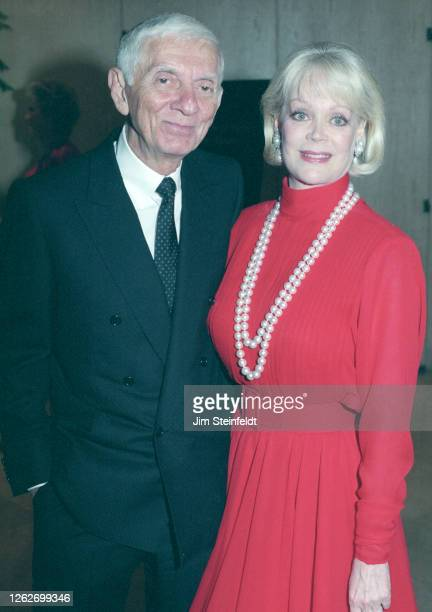 Aaron and Candy Spelling pose for a portrait in Los Angeles California in 1997