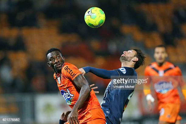Aaron Appindangoye of Laval during the Ligue 2 match between Stade Lavallois and Le Havre AC on November 4 2016 in Laval France