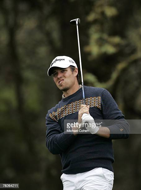 Aaron Baddeley during the first round of the ATT Pebble Beach National ProAm on the Poppy Hills Golf Course in Pebble Beach California on February 8...