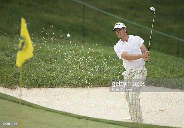 Aaron Baddeley during the fourth and final round of the Memorial Tournament Presented by Morgan Stanley held at Muirfield Village Golf Club in...