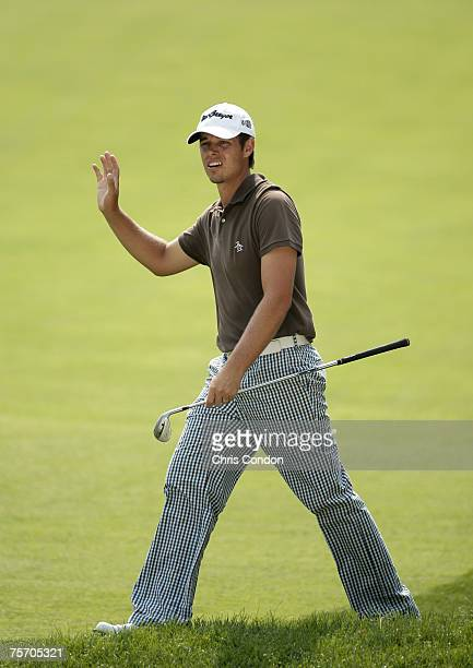 Aaron Baddeley during the second round of the Memorial Tournament Presented by Morgan Stanley held at Muirfield Village Golf Club in Dublin, Ohio, on...