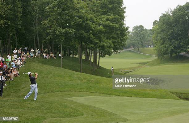 Aaron Baddeley during the third round of the Memorial Tournament Presented by Morgan Stanley held at Muirfield Village Golf Club in Dublin, Ohio, on...
