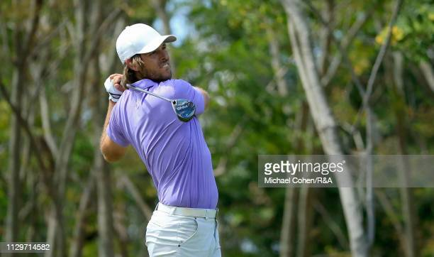 Aaron Baddeley of Australia hits his drive on the thir hole during The Open Qualifying Series part of the Arnold Palmer Invitational at Bay Hill Club...