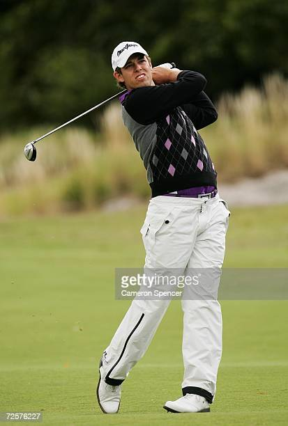 Aaron Baddeley of Australia in action during round one of the MFS Australian Open 2006 at The Royal Sydney Golf Club November 16, 2006 in Sydney,...