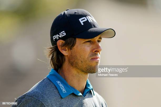 Aaron Baddeley of Australia looks on during the third round of the Sanderson Farms Championship at the Country Club of Jackson on October 28 2017 in...