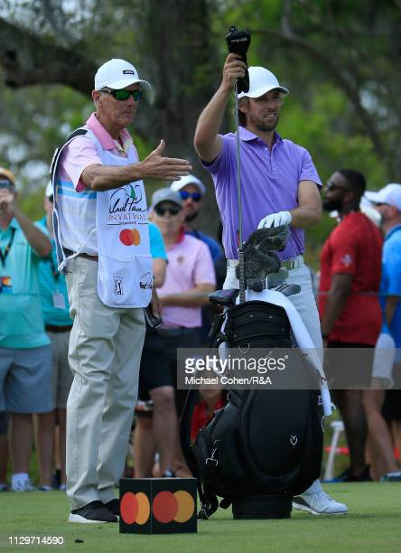 Aaron Baddeley of Australia prepares to hit his drive on the third hole during The Open Qualifying Series part of the Arnold Palmer Invitational at...