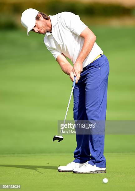 Aaron Baddeley of Australia putts on the seventh green during the third round of the CareerBuilder Challenge In Partnership With The Clinton...