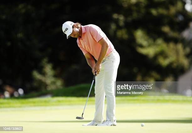 Aaron Baddeley of Australia putts on the sixth green during the third round of the Safeway Open at the North Course of the Silverado Resort and Spaon...