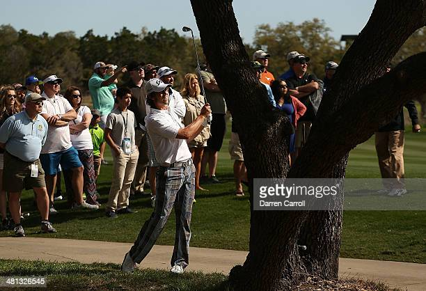 Aaron Baddeley takes his shot on the 1st during Round Three of the Valero Texas Open at TPC San Antonio ATT Oaks Course on March 29 2014 in San...