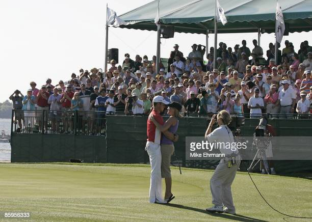 Aaron Baddeley wins the 2006 Verizon Heritage Classic being played at the Harbour Town Golf Links in Hilton Head South Carolina on April 16 2006
