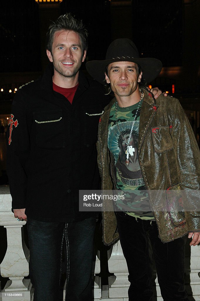 Aaron Benward and Scott Reeves of Blue County during The 39th Annual CMA Awards - Warner Bros. After Party at Metrazur in New York, New York, United States.