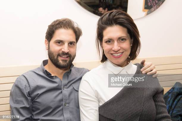 Aaron Berger and Rose Swarbrick attend Original Penguin Celebrates New York Fashion Week at Pianos on February 6 2018 in New York City