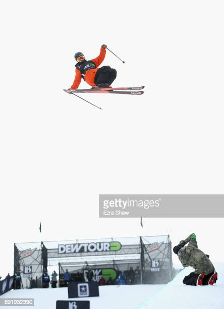 Aaron Blunck competes in the Superpipe qualification during Day 1 of the Dew Tour on December 13 2017 in Breckenridge Colorado