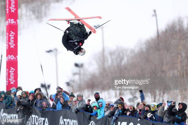 Aaron Blunck of the United States competes in the Men's Ski Halfpipe Final of the FIS Snowboard World Championships on February 09 2019 at Park City...