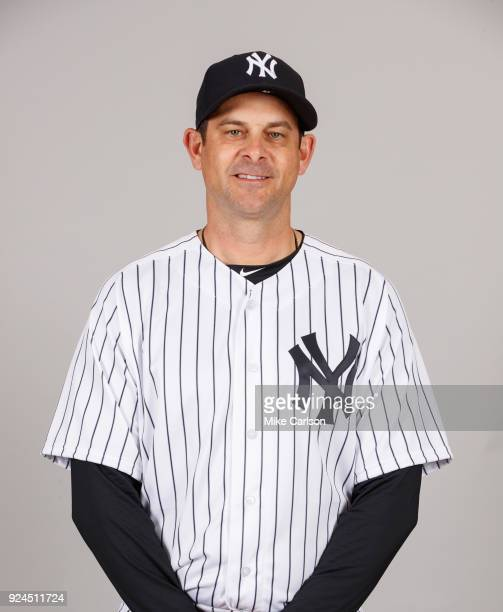 Aaron Boone of the New York Yankees poses during Photo Day on Wednesday February 21 2018 at George M Steinbrenner Field in Tampa Florida