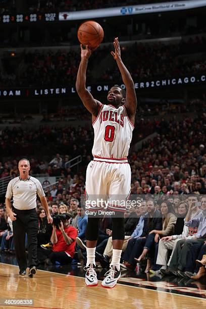 Aaron brooks of the Chicago Bulls takes a shot against the Boston Celtics on January 3 2015 at the United Center in Chicago Illinois NOTE TO USER...