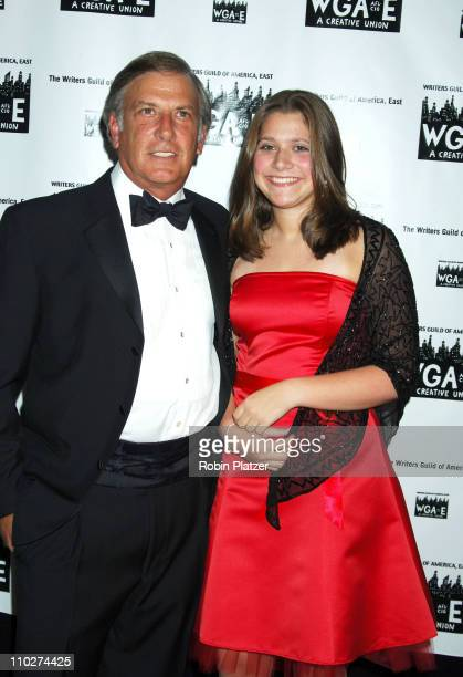 Aaron Brown and daughter Gabby during The 58th Annual Writers Guild Awards Arrivals at The Waldorf Astoria Starlight Roof in New York New York United...