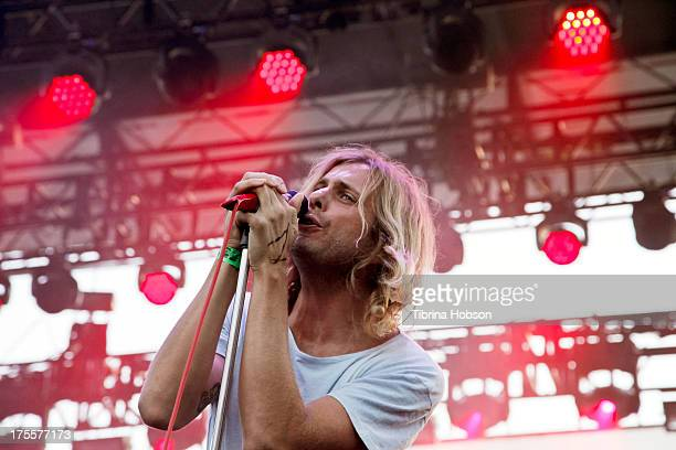 Aaron Bruno of Awolnation performs at the 6th annual Sunset Strip Music Festival on the Sunset Strip on August 3 2013 in West Hollywood California