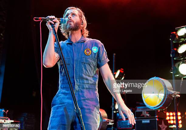 Aaron Bruno of AWOLNATION performs in support of the Nobody For President Tour 2016 at DTE Energy Music Theater on September 1 2016 in Clarkston...