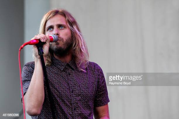 Aaron Bruno of AWOLNATION performs on the Petrillo Music Shell during the 34th Annual 'Taste Of Chicago' food festival on July 09 2014 in Chicago...