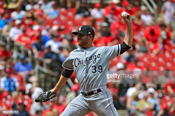 Aaron Bummer of the Chicago White Sox pitches during the seventh inning against the St Louis Cardinals at Busch Stadium on May 2 2018 in St Louis...