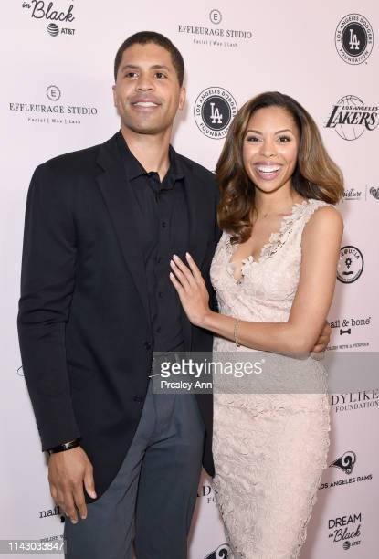 Aaron Burgess and Ciera Payton attend The LadyLike Foundation Women Of Excellence Luncheon at The Beverly Hilton Hotel on May 11 2019 in Beverly...