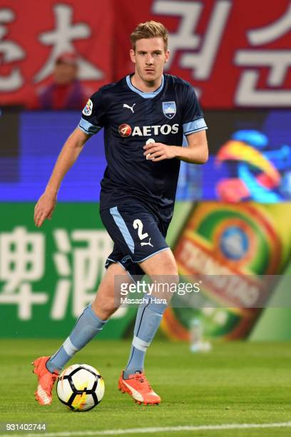 Aaron Calver of Sydney FC in action during the AFC Champions League Group H match between Kashima Antlers and Sydney FC at Kashima Soccer Stadium on...