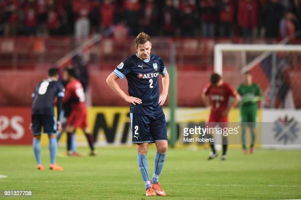 Aaron Calver of Sydney FC looks dejected after the AFC Champions League Group H match between Kashima Antlers and Sydney FC at Kashima Soccer Stadium...