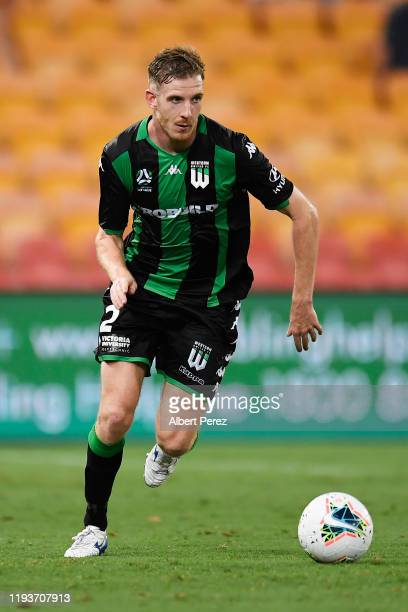 Aaron Calver of Western United in action during the round 10 A-League match between the Brisbane Roar and Western United at Suncorp Stadium on...